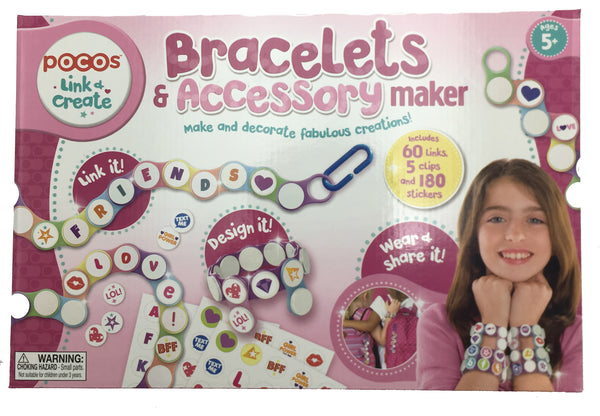 Pocos Bracelet & Accessory Maker with 5 Backpack Clips