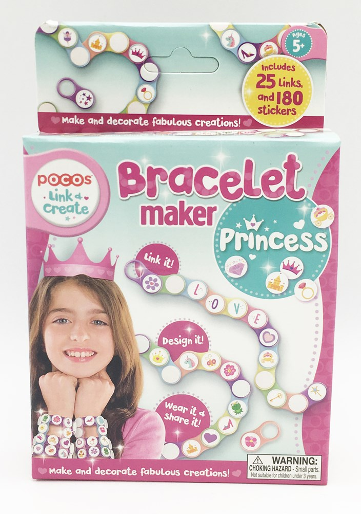 Pocos Bracelet Maker with Princess Themed Stickers