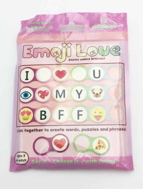 Pocos Emoji Love Necklace - Pink Bag