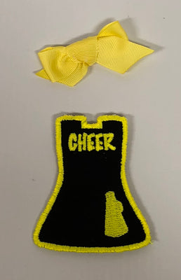 Black/Yellow Cheer - Yellow Bow