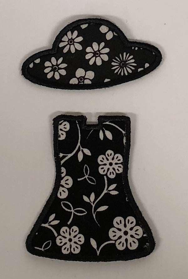 Black Dress - White Floral Pattern