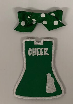 Green Cheer - Polka Dot Bow