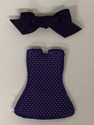 Purple Dot Dress with Bow