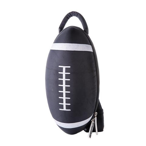 Black Football Backpack