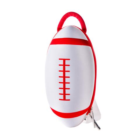 White Football Backpack