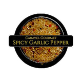 All-Natural Spicy Garlic Pepper Sea Salt 2-Pack - Cooking or Finishing Salt - Habanero, Garlic, Red Pepper - No Gluten, No MSG, Non-GMO - Stackable Jars (8 total oz.)