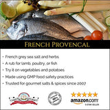 French Provencal Sea Salt - All-Natural French Grey with Savory, Basil, Thyme, Lavender, Rosemary, Marjoram - No Gluten, No MSG, Non-GMO - Cooking and Finishing Salt - Stackable Jars (8 total oz.)