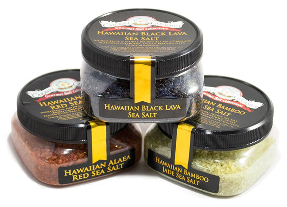 Hawaiian Sea Salt Combination 3-Pack-Caravel Gourmet