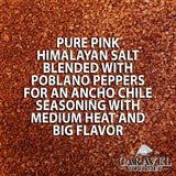 Keto Collection - Ancho Chile Himalayan Pink Salt Blend - Dried Poblano Peppers for a Spicy Seasoning Blend - 5 Ounce Pouch-Grocery-Caravel Gourmet