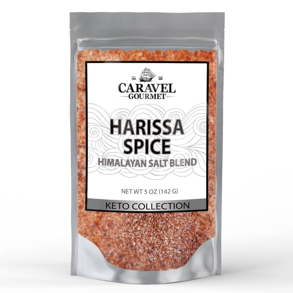 Keto Collection - Harissa Spice Himalayan Pink Salt Blend - A Bold, Smoky Seasoning with All of the Flavor of the Classic Sauce - 5 Ounce Pouch-Grocery-Caravel Gourmet