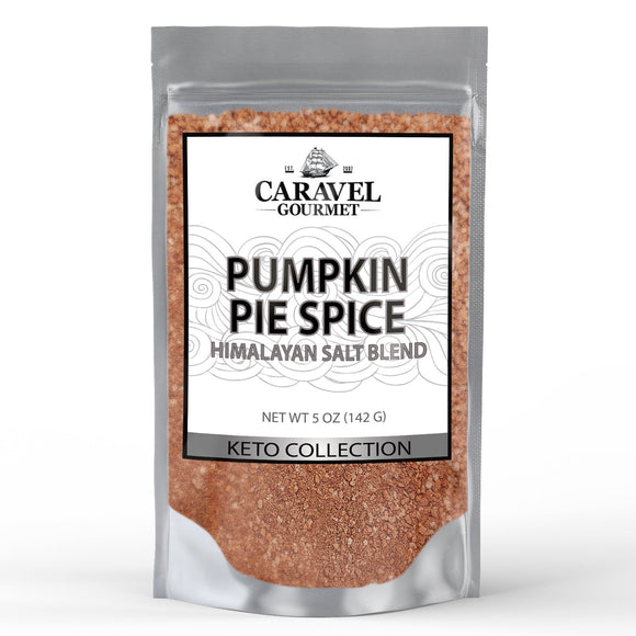 Keto Collection - Pumpkin Pie Himalayan Pink Salt Blend - Cinnamon, Nutmeg, Ginger, Allspice - 5 Ounce Pouch-Grocery-Caravel Gourmet