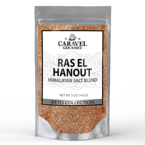 Keto Collection - Ras El Hanout Himalayan Pink Salt Blend - The Classic Moroccan Spice Blend - 5 Ounce Pouch-Grocery-Caravel Gourmet
