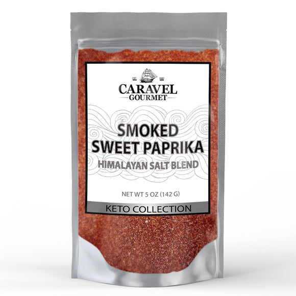 Keto Collection - Smoked Sweet Paprika Himalayan Pink Salt Blend - Delicious and Smoky - 5 Ounce Pouch-Grocery-Caravel Gourmet