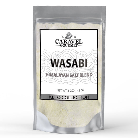 Keto Collection - Wasabi Himalayan Pink Salt Blend - A Perfect Shelf-Stable Blend with All of the Flavor - 5 Ounce Pouch-Grocery-Caravel Gourmet