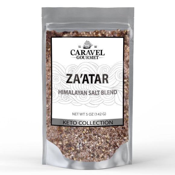 Keto Collection - Za'atar Himalayan Pink Salt Blend - the Authentic Middle Eastern Mix of Sumac, Oregano, Thyme, and Sesame Seeds - 5 Ounce Pouch-Grocery-Caravel Gourmet