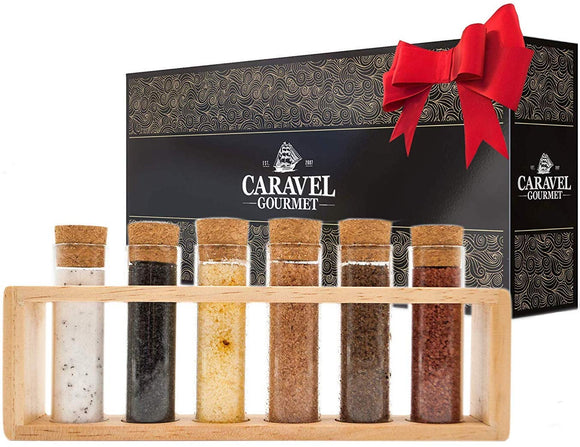 The Deluxe Gourmet Infused Sea Salt Sampler-Grocery-Caravel Gourmet