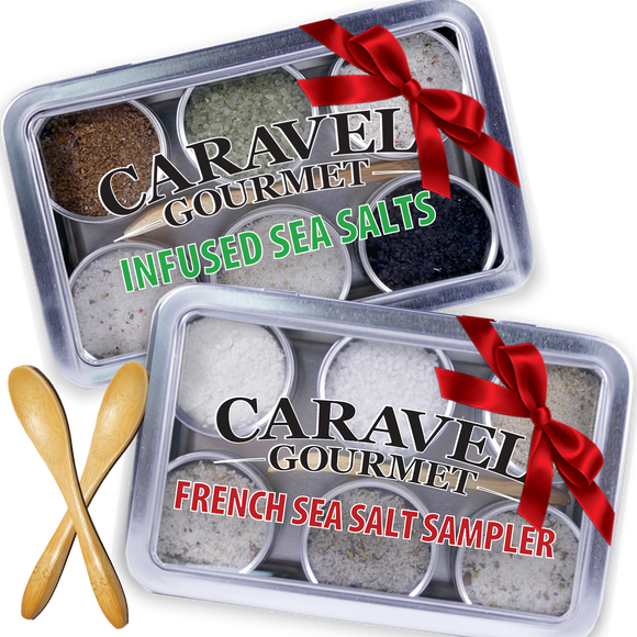 The Gourmet Sea Salt Sampler 2-pack - Infused + French Duo - Two Pack-Grocery-Caravel Gourmet