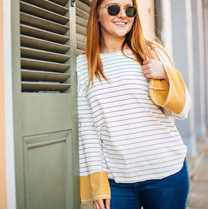Striped Contrast Long Sleeve