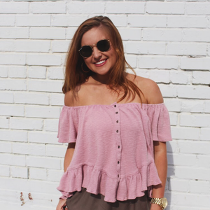 Waffle Off The Shoulder With Frills