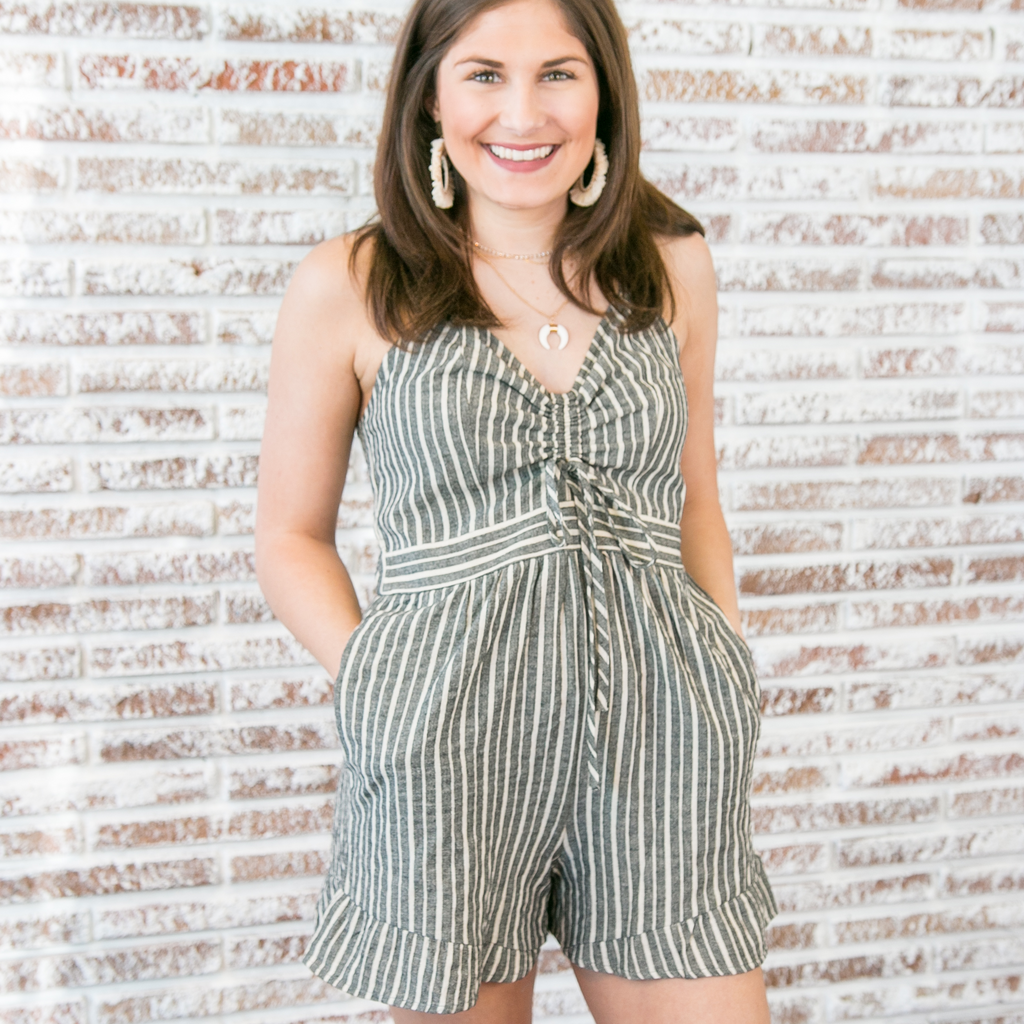 Sophia Striped Romper