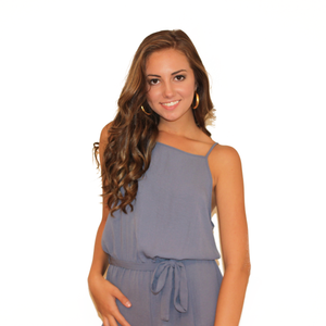 Silk Blue Romper