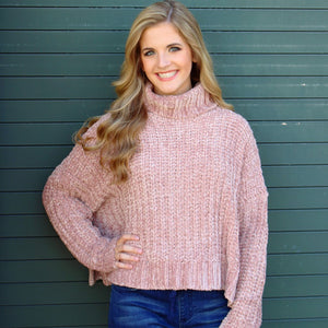 Rusty Rose Turtle Neck Sweater
