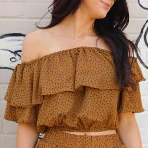 Caramel Star Print Set