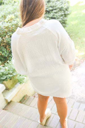 White Button Down Tunic