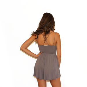 T Shirt Romper - Grey