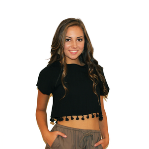 Crop Top With Tassels