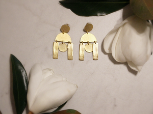 Gold Geometric Statement Earring