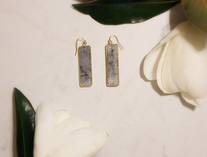 Charcoal Stone Dangle Earring