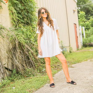 Contrast Hem Dress