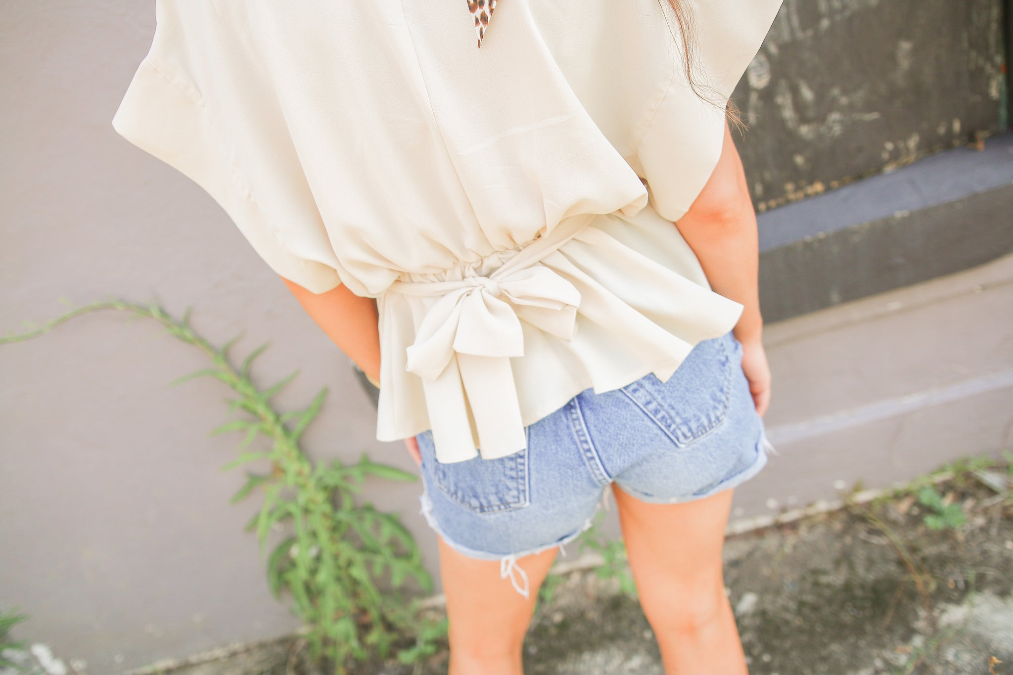 Sand Tie Waist Button Up
