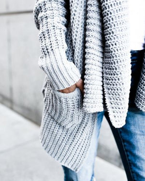 Wide Shawl Collar Cardigan