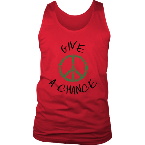 Give Green Peace A Chance - Mens Tank