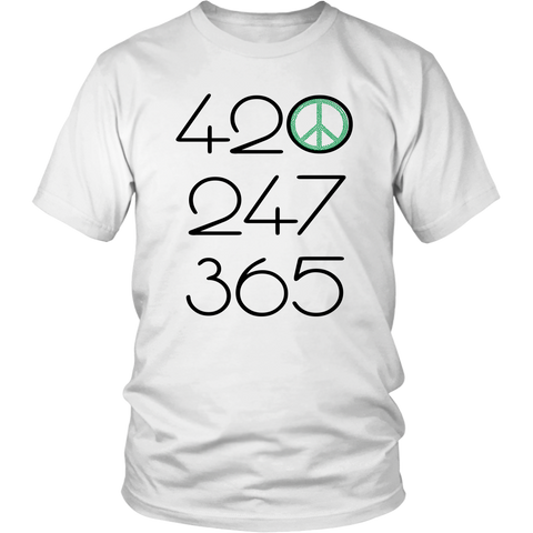 420 247 365 - Green All Day Everyday - Unisex T-Shirt