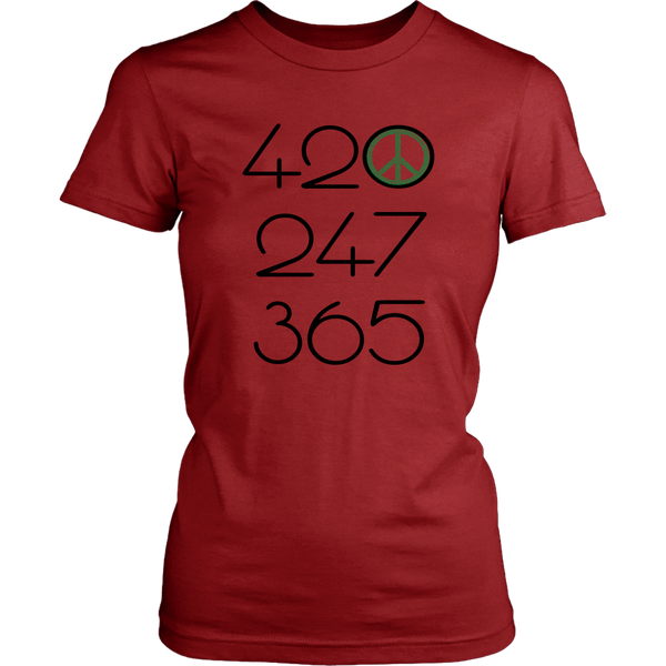 420 247 365 - Green All Day Everyday - Womens T-Shirt