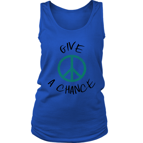 Give Green Peace A Chance - Womens Tank