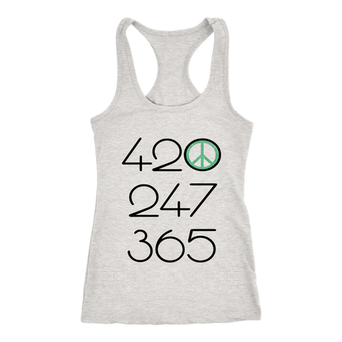 420 247 365 - Green All Day Everyday - Womens Racerback Tank