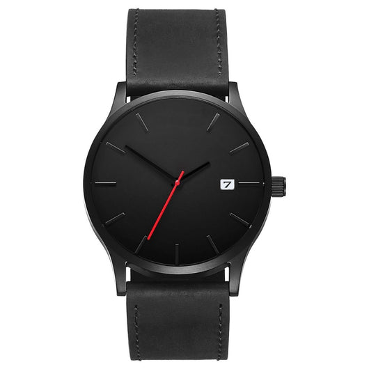Darth - Minimalist Steel Wristwatch - Leathwoods