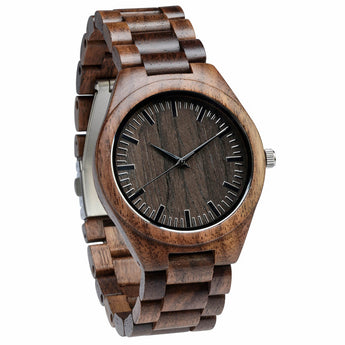 Mocha - Handcrafted Natural Wood Watch - Leathwoods