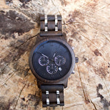Latte - Handcrafted Natural Wood & Steel Wristwatch - Leathwoods