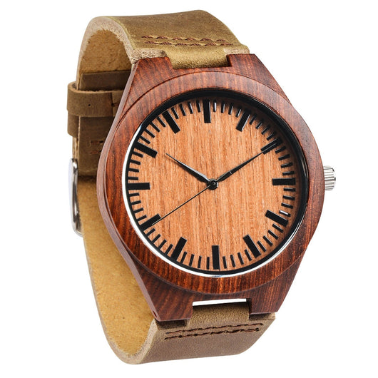 Oriole - Minimalist Rosewood Watch - Leathwoods