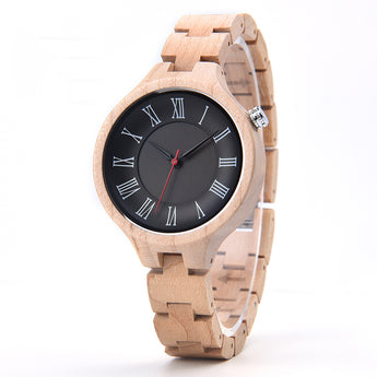 Tan - Natural Wooden Watch for Women's - Leathwoods