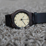 Gray Jay - Natural Wooden Watch - Leathwoods