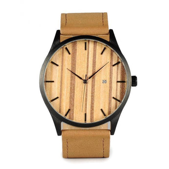 Deer - Wood & Steel Minimalist Wristwatch - Leathwoods