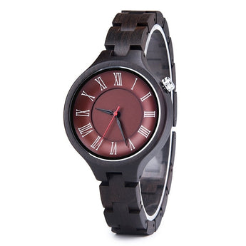 Red Viper - Wooden Watch for Women's - Leathwoods
