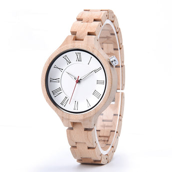 Egret - Wooden Watch for Women's - Leathwoods