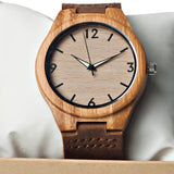 Sand - Natural Bamboo Wooden Watch - Leathwoods